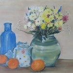 Still life with flower vase